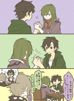 Be scared. Be very scared as your two very strong siblings engage in a death match. Manga Pages, Kagerou Project, Character Design, Anime Stories, Kido, Chibi Sketch, Naruto Cute, Anime Characters, Cartoon Movies