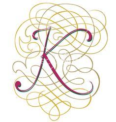 Script letter k vector 97123 - by YASMAD on VectorStock®