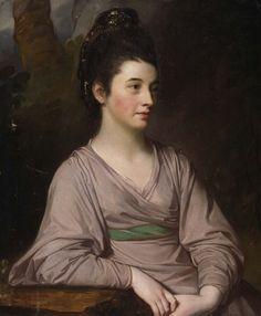 """""""Miss Kirkpatrick"""" (1772) by George Romney (1734-1802)."""