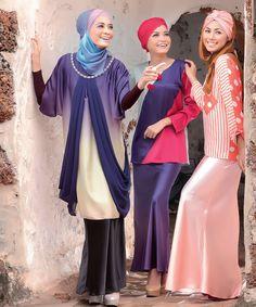 Hadir dalam persalinan 'blouse' moden dengan pilihan rona nan menggoda. Untuk kelihatan lebih sempurna gayakan hijab dengan pilihan rona lebih terang bagi memberikan ilusi yang lebih menyerlah lagi.