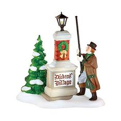 """Ye Olde Lamplighter"" Dickens Village Sign"