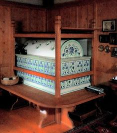 Here Is An Example Of A Kachelofen A German Tile Stove