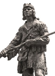 Daniel Boone statue stands in front of Cherokee Park in Louisville, Kentucky… Texas History, Us History, American History, Family History, Louisville Kentucky, Kentucky Derby, Cherokee Park, Cowboys And Indians, Real Cowboys