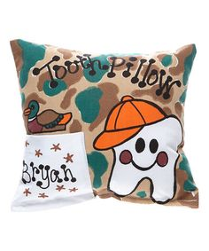 Love this Camo Personalized Tooth Pillow on #zulily! #zulilyfinds
