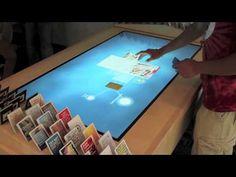 Interactive MultiTaction display at Trinity University - YouTube