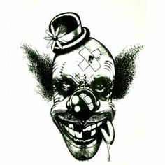 Tatouage-ephemere-tête-de-clown
