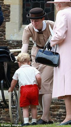 Busy: Nanny Borrallo was called on to stop Prince George from grabbing the wheel of his si...