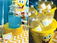 Water Bottle Labels and Buffet Markers from Wiregrass Weddings featured on Hostess with the Mostess.