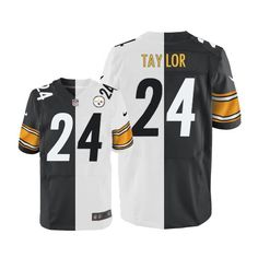 Pittsburgh Steelers Ike Taylor Men s Limited Team Road Two Tone Nike Jersey  -  24 186bb6402