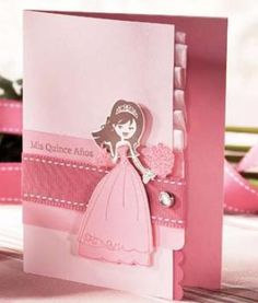 Wow, this is one impressive DIY quinceanera invitation!