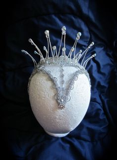 Snow Queen Headpiece by PointeCreations on Etsy, $55.00