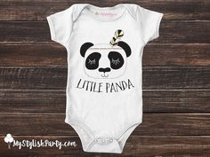Our adorable Little Panda baby onesie, is the perfect gift for a baby shower, or an everyday style outfit. Our fun and trendy t shirts and bodysuits are and made to order, processed and shipped within 3 - 5 business days! vvv Scroll Down for More Info vvv Our super fun personalized tees are made to order! SIZE CHART INCLUDED IN IMAGES ABOVE - CLICK OR SWIPE RIGHT :) - Images are a graphic display for sample only, size and placement may vary based on the size & brand of your tee. Any addi...