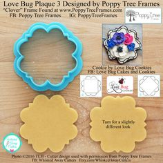 Love Bug Plaque 3 Designed by Poppy Tree Frames - **Guideline Sketches to Print Below** Bug Cake, Photos 2016, Love Bugs, Close Up Photos, One Design, Plaque, Cookies Et Biscuits, Poppies, Cookie Stamp