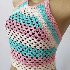 Crochet Fingerless Gloves Free Pattern, Baby Booties Knitting Pattern, Crochet Shoes Pattern, Crochet Bikini Pattern, Crochet Patterns, Crochet Halter Tops, Crochet Cardigan, Crochet Top, Crochet Fashion