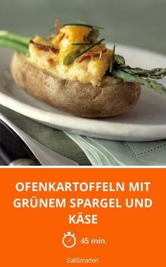 Ofenkartoffeln mit grünem Spargel und Käse - einfach und soooo lecker!