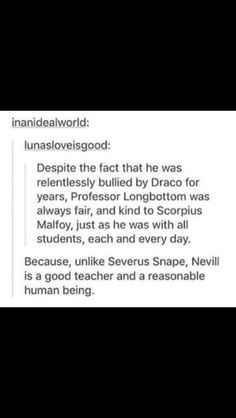 As much as I love Snape I have to agree