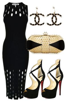 Not much on the shoes. But, love the rest of the outfit! 😊fashion style McQ by Alexander McQueen Christian Louboutin Chanel clothing Mode Chic, Mode Style, Look Fashion, Womens Fashion, Fashion Trends, Club Fashion, Fashion Black, Fashion Ideas, Fashion Beauty