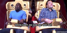Hart really didn't want to do it. Jimmy finds out Kevin hates roller coasters. Watch it!