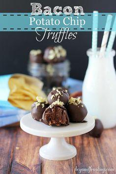 Bacon Potato Chip Truffles | beyondfrosting.com | #truffles #bacon #valentinesday