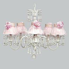 Sweet Pink Children's bedroom chandelier