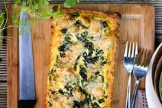 Sage silverbeet and blue goats cheese tart recipe, Viva – visit Eat Well for New Zealand recipes using local ingredients - Eat Well (formerly Bite) Pastry Shells, Flan, Goat Cheese, Eating Well, Sage, Vegetarian Recipes, Stuffed Mushrooms, Good Food, Breakfast