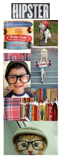 Moodboard d'inspirations pour les collections Cool attitude (garçon 2-10 ans) et Chat roule! (bébé garçon 3-24 mois) / Inspirations moodboard for Cooler than cool collection (boy 2-10 years) and Skateboard skat! collection (baby boy 3-24 months) #garçon #mode #enfant #bébé #monet #boy #fashion #baby #kid #hipster