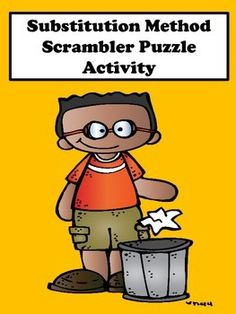 Systems of Equations: Students will enjoy this substitution method scrambler puzzle activity. This activity is great for remediation and differentiation. It contains two levels. Level one is for students who struggle and level two is for students who desire to be challenged.