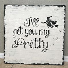 Classy Clutter: Vintage Painted Signs & a Halloween Sign Giveaway!