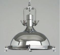 Large-Nautical-Chrome-Pendant-Lamp-lighting-Kitchen-Lounge-Industrial