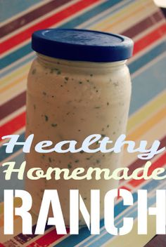 Healthy Homemade Ranch Dressing--We all know that regular ranch dressing can be full of fat and calories. So I found a solution. Healthy homemade ranch dressing made from Greek yogurt!
