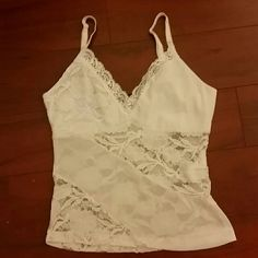 White Top White Rampage Top. Size M, Fits Small or Medium Rampage  Tops Tank Tops