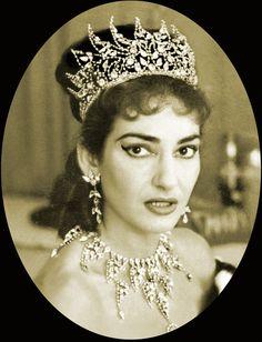 Maria Callas and her Tiara