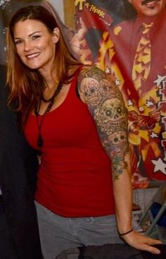 Sugar Skull Sleeve Wwe Female Wrestlers Gmc Trucks Tattoo Images Wwe Lita Wwe Womens Nudes Amy Selfie Selfies