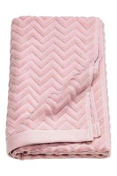 Жаккардовое полотенце - Светло-розовый - HOME   H&M RU