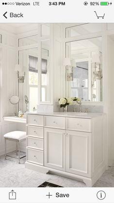 Built In Bathroom Vanities MAKEUP Make Up Vanity Built In - Bathroom vanities with makeup table for bathroom decor ideas