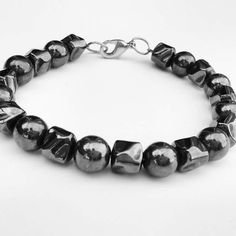 "Rebelbehavior.com "" He-Man"" bracelets    #hematite #rebelbehavior #madeinusa #semiprecious #crafts #jewelry #bling #nfl #nba #menswear #mensaccessories #hematite #mensfashiontrends2016 #accessoriesthemag #rebel  #londoncollectionmens2015 #mensfashiontrends2015 #stylis"