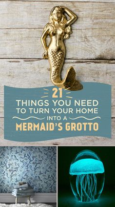 21 Things Every Mermaid Needs For Their Home - - There's just too much to sea here. Mermaid Home Decor, Mermaid Bedroom, Mermaid Crafts, Mermaid Diy, Mermaid Style, Mermaid Bathroom Decor, Mermaid Lamp, Mermaid Decorations, Ocean Bedroom
