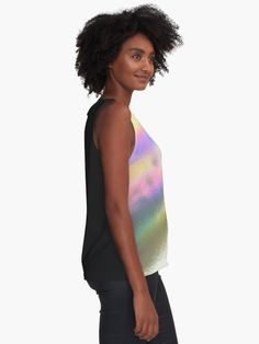 """Holographic colorful oily rainbow"" Sleeveless Top by artsome-design 
