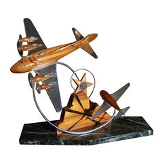 Air Plane Sculpture | From a unique collection of antique and modern sculptures at https://www.1stdibs.com/furniture/more-furniture-collectibles/sculptures/