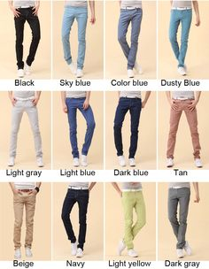 $29.59 / Men's Wild Cotton Trousers Slim Skinny Stylish Pants via ...