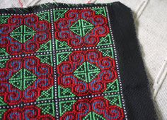 Thai Hmong handmade patch  cross stitch  by ThaiTextileShop, $7.99