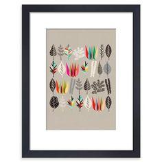 Botanical Assembly, Framed Print, 28x36cm