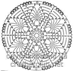 Photo - Her Crochet Motif Mandala Crochet, Crochet Circles, Crochet Doily Patterns, Crochet Diagram, Crochet Round, Crochet Chart, Crochet Squares, Crochet Home, Thread Crochet