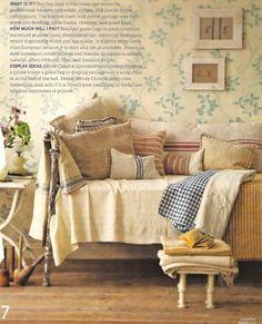 ysvoice:| ♕ | Homespun Pillows | by country home | via Veronica Miller