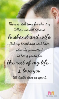 Make your fiancé feel the most special with these beautiful romantic messages, our collection of the best love messages for fiance in one page #love #quotes #lovequotes #wedding