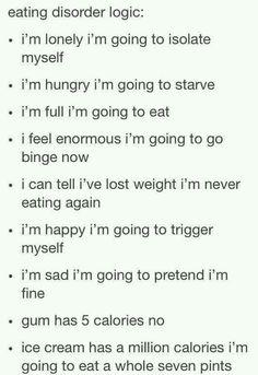 Eating disorder logic: