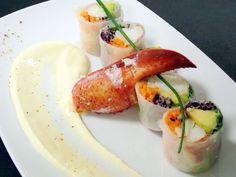 Rouleau de Homard aux Légumes Croquants, Crème Acidulée à la Passion, par Mathieu SCHERRER, chef du restaurant River Café à Issy les Moulineaux (92130).   recette téléchargeable sur http://rivercafe.fr/images/docs/animations/rivercafe-2014-rp-quinzaine-gourmande-homard.pdf #homard #lobster #recette #recipe #recettedechef #ChefRecipe #Quinzainegourmande #restopartner #rivercafe  #restaurantparis #maitrerestaurateur #paris #gastronomy