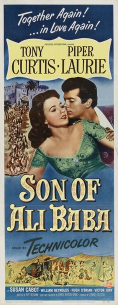 Son of Ali Baba is a 1952 film starring Tony Curtis. In it he has a line about the palace of his father, which an urban legend has transferred to his better known film The Black Shield of Falworth. The film paired Curtis again with Piper Laurie, who starred with him in the 1951 film The Prince Who Was a Thief.