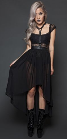 Fall From Grace Vegi Leather Halter Harness With Skirt
