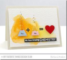 Undeniable Chemistry, Chemistry Set Die-namics - Barbara Anders  #mftstamps